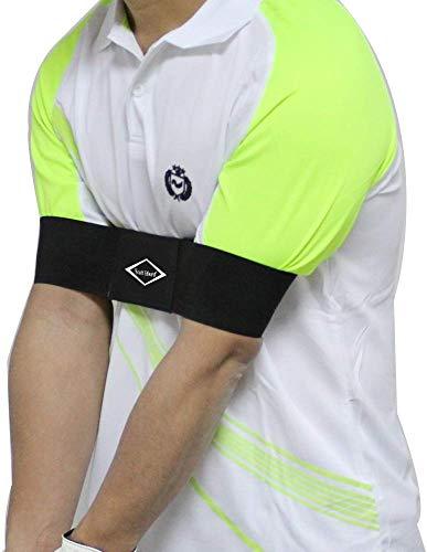EDWARD & CO. Pro Golf Schwungarmband Trainingshilfe für Golfanfänger, Unisex, Schwarz