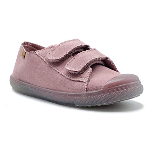 Zapatillas de Lona ecológica para niña y niño/Bambas Infantiles con aromaterapia antimosquitos/Calzado Infantil con Cierre de Velcro/fabricacion en España (Rosa, Numeric_23)
