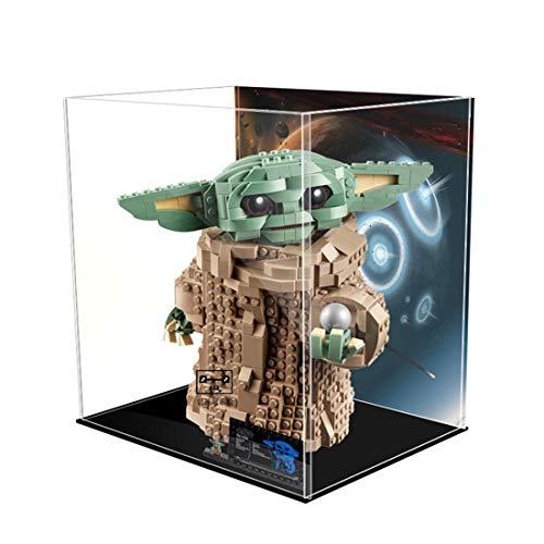 Giplar Vitrina de Acrílico Compatible con Lego 75318 Star Wars The Mandalorian El Niño, Vitrina A Prueba De Polvo Caja de Exhibición (Juego de Modelo No Incluido)