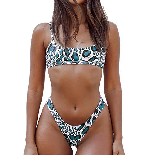 Bikinis Tanga Sexys Push Up Mujer Bikini De Leopardo Sexy para Mujer Conjunto De Trajes De BañO BrasileñOs Ropa De Playa Traje De BañO
