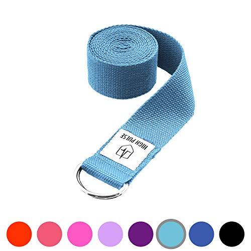 High Pulse Cinturón para yoga – Correa para yoga con hebilla – El accesorio de yoga y pilates perfecto – 100% hecho de lana (Varios tamaños)