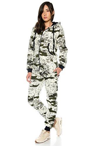Crazy Age Jumpsuit Army Camouflage Tarnfarben Batik CA 2820 (Khaki, M) - 3