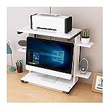 Soporte para Impresora Soporte de la impresora del soporte del soporte de monitor con 2 niveles estantes de almacenamiento estanterías de estantería oficina de escritorio de escritorio de escritorio d