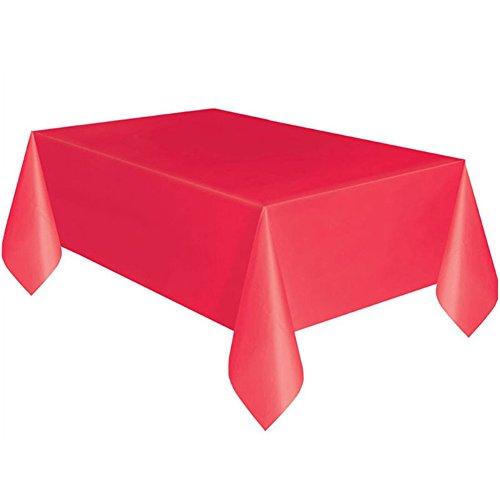 Display08 rectangle de plastique Housse pour table de fête Traiteur Nappe Red