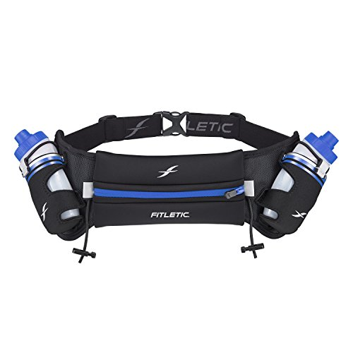 Fitletic Hydra 453,6 gram Ceinture d'hydratation, mixte, Striped Blue, L/XL (35\