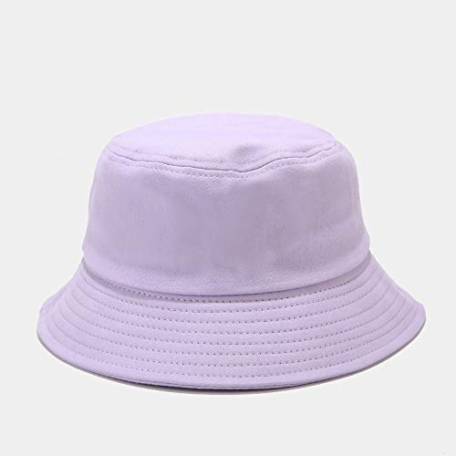 ZWXDMY Bucket Hat Herren,Pure Purple Unisex Fisherman's Hut Sommer Faltbar Bob Eine Mütze Outdoor Sonnenschutz Baumwolle Angeln Jagd Kappe, Für Reisen Camping Wanderurlaub
