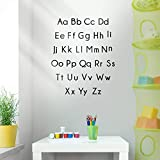 Vinyl Wall Art Decal - Set of Abc's Alphabet Letters - 27.5' x 22.5' - Educational Kids Learning Home Apartment Bedroom Playroom Classroom Homeschool Preschool Kindergarten (27.5' x 22.5', Black)