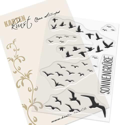 Karten-Kunst-Stempel Clear Stamp Stempelgummi Vögel Sonnengrüße