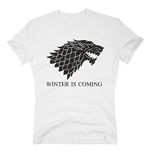 T-Shirt Game of Thrones – Winter is Coming Stark Weiss S