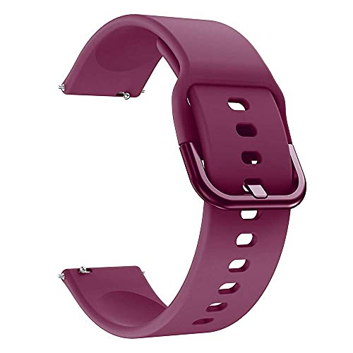 20mm Uhrenarmbänder für Armband Ersatzarmband Armband Silikonarmband Glatt Mehrfarbig (Bandfarbe: Rotwein, Bandbreite: 20mm)