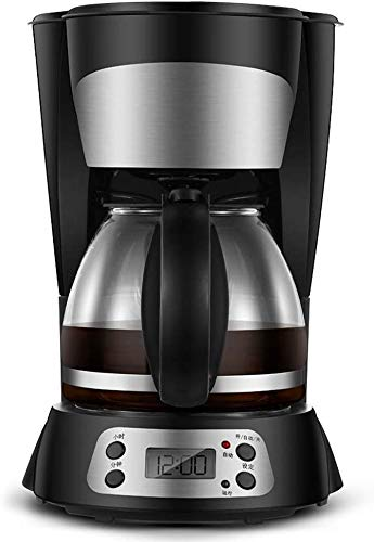 CHNFF Praktisch 800 W koffiezetapparaat met digitaal koffiezetapparaat filter, LED-indicator voor startvertraging timer, anti-druppelfunctie