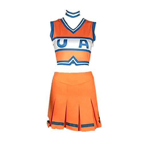 ULLAA Anime My Hero Academia Cheerleader Disfraz de Cosplay Vestido de Uniforme de porristas Trajes JK