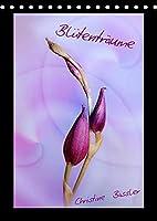 Bluetentraeume (Tischkalender 2022 DIN A5 hoch): Blueten in den Farben rosa bis lila (Monatskalender, 14 Seiten )