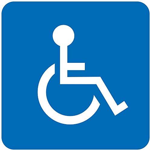 BCTS - Señal de advertencia de discapacidad para aparcar sillas de ruedas (metal, 30,5 x 30,5 cm)