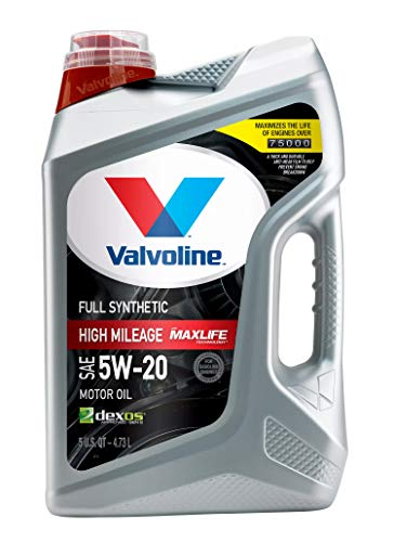 Valvoline Full Synthetic High Mileage with MaxLife Technology SAE 5W-20 Motor Oil 5 QT