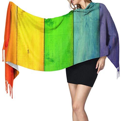 Bufanda cálida para mujer, de moda, chal largo, con fondo multicolor, de...