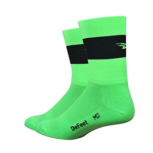 Defeet Aireator Team Double Cuff Socken, Neongrün, Größe S