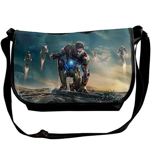 JONINOT I-r-ON Man Shoulder Bags Commute Messenger Bag Work Purses Crossbody Satchel Schoolbag