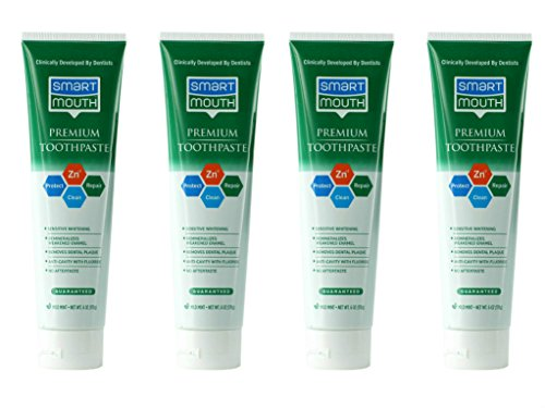 SmartMouth Premium Toothpaste for Elite Oral Health Protection, 6 oz, 4-Pack