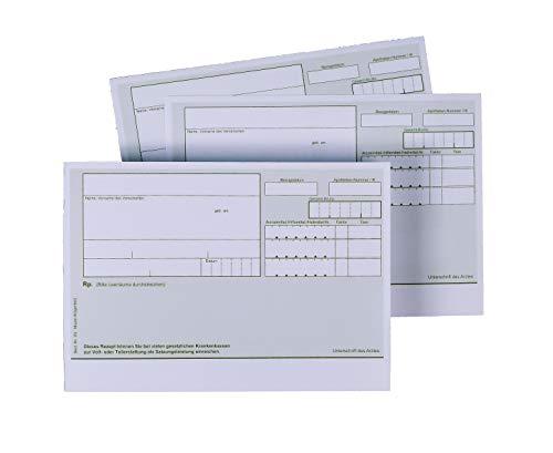 200 Blatt grüne Privatrezepte von MEYER-WAGENFELD, der Druckerei für Ärzte   DIN A6 Querformat   ungeblockt