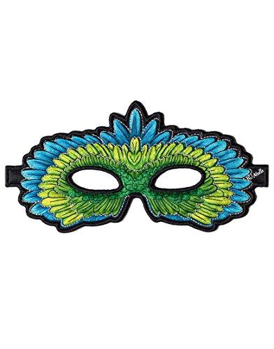 Dreamy Dress-Ups 50792 Mask, Green Parrot, Eclectus roratus (masque en tissu, oiseau)