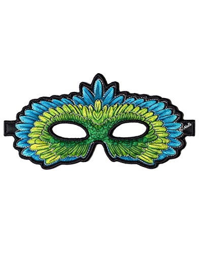 Dreamy Dress-Ups 50792 Mask, Green Parrot, Eclectus roratus (masque en tissu, oiseau)