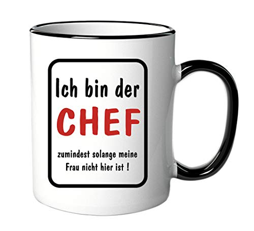 Tasse Ich bin der Chef - mit Spruch - lustig - Büro/Arbeit/Geschenke für den Chef