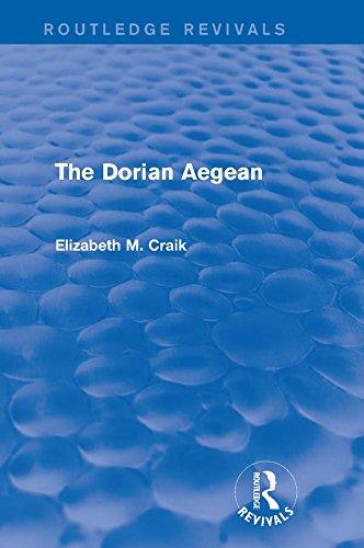 The Dorian Aegean (Routledge Revivals) (English Edition)