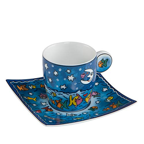 Goebel 26101901 Espressotasse James Rizzi The Moon, the Stars and the Fish in the Sea