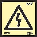 Normaluz A0A430 - Señal Luminiscente Riesgo Electrico CTE Clase A PVC 1mm 21x21cm con CTE, RIPCI y Apto para la Nueva Legislación
