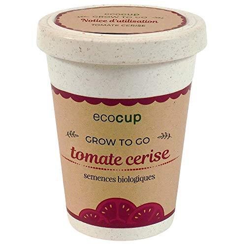 Feel Green Ecocup, Tomate Cerise Certifiées Bio, Idée Cadeau (100% Ecologique), Grow-Your-Own/Kit Prêt-à-Pousser, Plantes Dans Coffee Cup 10 x 8 cm, Produit En Autriche