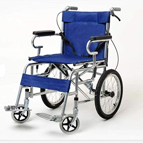 OSL Silla de ruedas plegable ligera Conducción Médica Adulto Anciano portátil Silla de ruedas manual Carro para discapacitados Cómodo OSL