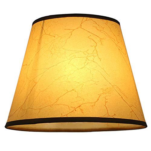 Eastlion semplice manuale moderna paralume in PVC per lampada da tavolo, lampada da parete, lampada da comodino, lampada da terra con E27 lampada titolare Coprilampada 14x22x17cm Giallo