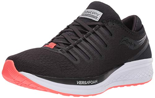 Saucony Men's VERSAFOAM Extol Road Running Shoe, Black/red, 9.5 M US