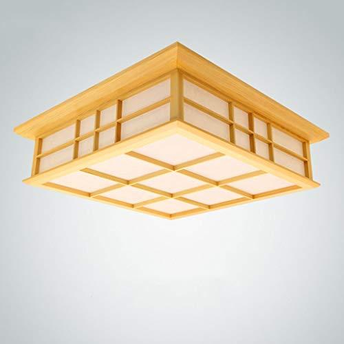 Lámpara de techo de madera de estilo japonés lámpara de día de ahorro de energía LED moderna, sala de estar para niños de China sala de Investigación lámpara de araña iluminación interior(45x45x12cm)