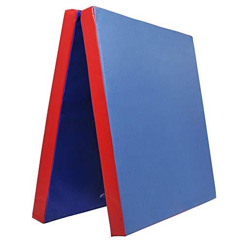 Klappbare Weichbodenmatte RG 35   BLAU - ROT   200 x 100 x 8 cm