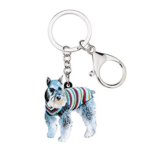 HumoliStore Cadena de llavero de perros de acrílico, tamaño: 45 mm x 38 mm, joyería para mujer, bolso de amante de mascotas para niña, billetera de coche, regalo de encanto Mano de obra exquisita