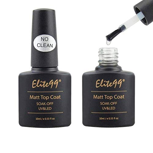 Elite 99 Esmalte de Uña de Gel Polish Top coat Mate Semipermanente Soak Off UV LED Manicura Arte - 10ml