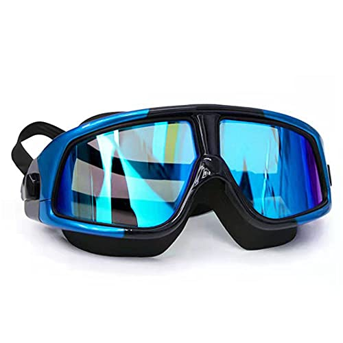 WZCLMSE Occhialini da nuoto anti-appannamento ad alta definizione per il nuoto all'aperto. La confezione include tappi per le orecchie e clip nasali.