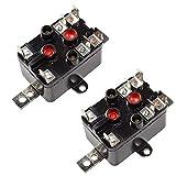 HQRP 2 Paquetes Relé de Ventilador de Uso General Reemplazo Compatible con Emerson 90-380 24V Bobina Normalmente Abierto/Cerrado Tipo 184 Posavasos