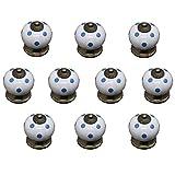 Set de la aldaba de la puerta / 10 unids de cerámica perillas de cajón mango de cajón europeo muebles de dibujos animados aleación de zinc armarios retro armaronado redondo de un solo agujero de calab