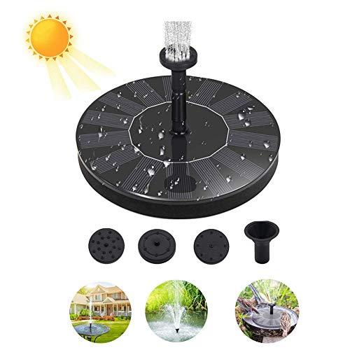 Zonne-energie fontein pomp voor vogel bad 7V 1.4W gratis staande drijvende water pompen met 4 mondstuk voor tuin, Patio, vijver en zwembad decoratie
