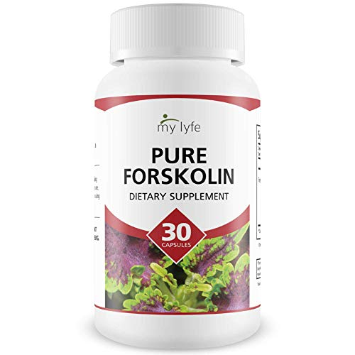 My Lyfe Pure Forskolin- Strength Fat Burner and Metabolism Support all Natural, Pure, Potent Ingredients with Coleus Forskohlii Safe Weight Loss Supplement for Women and Men 30 Capsules