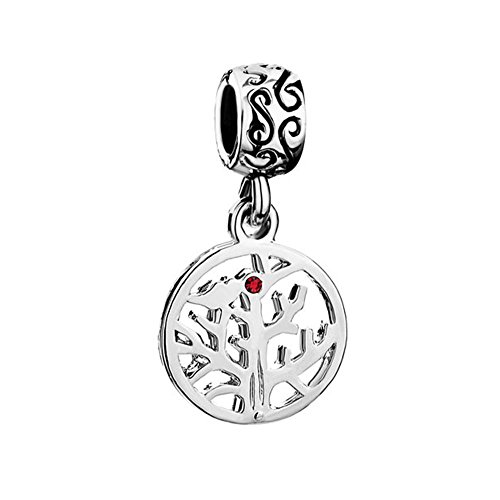 UNIQUEEN Family Tree of Life Dangle Charms fit Charm Bracelet & Necklace