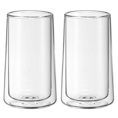 WMF TeaTime Latte Macchiato Gläser -Set, 2-teilig, doppelwandige Gäser, für Kaffee und Tee geeignet, Thermoglas, hitzebeständig, spülmaschinengeeignet, V 270ml, H 13cm