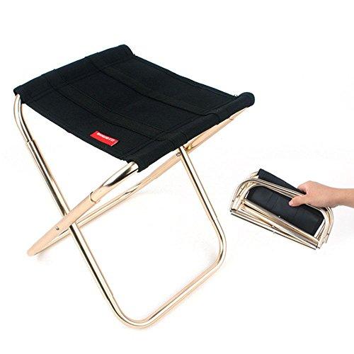 Pawaca Taburete Plegable Portátil,Sillas Plegables Camping Aleación de Aluminio Oxford Pequeña Para...