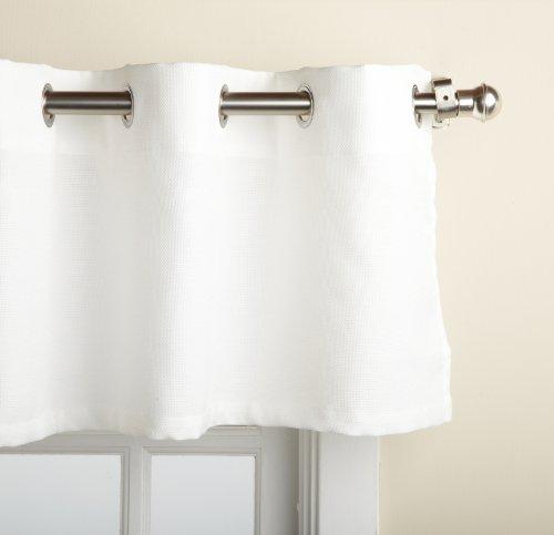 "LORRAINE HOME FASHIONS, White Jackson 58 x 12-inch Valance, 58"" x 12"""
