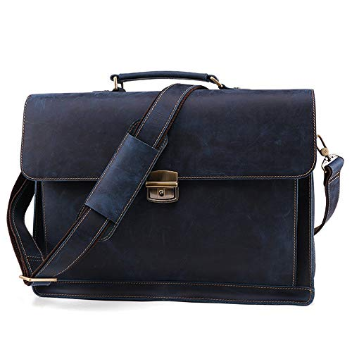 Maletín de viaje Sencillez Hombres Retro Messenger Bag Cuero Business Maletín Caja de la computadora portátil Bolso for los regalos de los hombres. Adecuado para viajar en ordenador portátil.