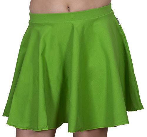 Jandaz 96 % Baumwolle, Skaterrock, Ballett, Tanz, Schule, Kleidung, hergestellt in der EU Gr. 140 cm/9-10 Jahre, grün