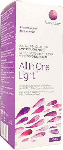 CooperVision All in One Light - Kontaktlinsenzubehör, 1er Pack (1 x 360 ml)